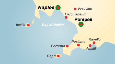 Walking Guided Tour of Pompeii and Naples